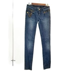 Married to the Mob Zipper and Chain Jeans